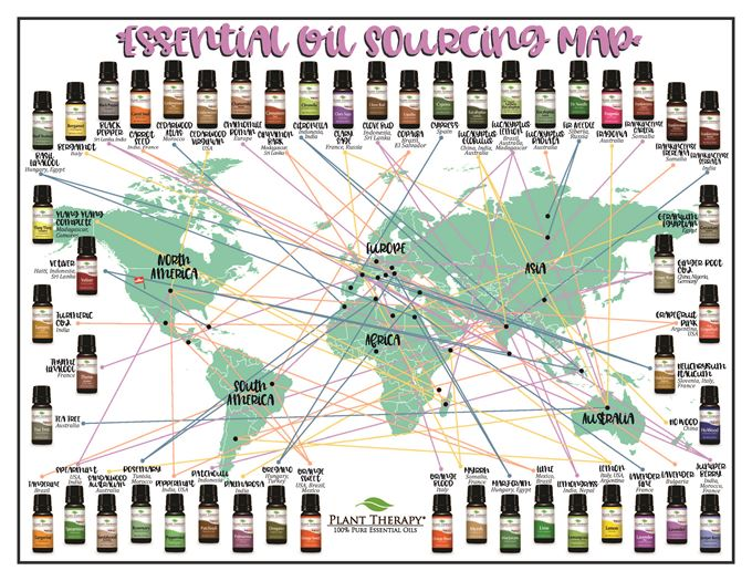 essential oil sourcing map